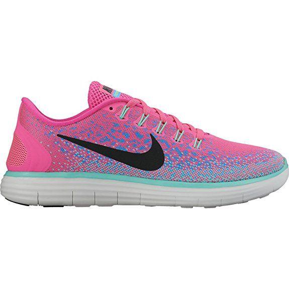 Nike WMNS Free RN Entfernung,-Schuhe Running Training Damen, Coastal Blue/Off Wht-Hrtg Cyn, 6