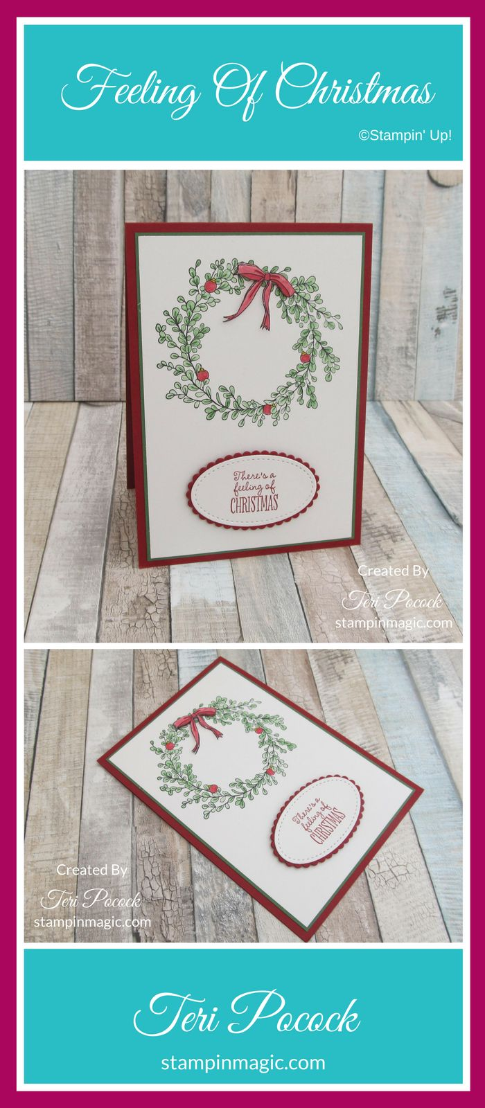 Feeling of Christmas By Stampin Up. Created by UK Independent Demonstrator Teri Pocock. Click through for more details.#teripocock #stampinup #stampinupuk #feelingofchristmas