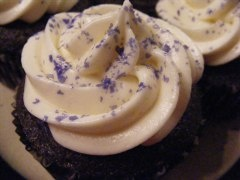 Purple Velvet Cupcakes with tips
