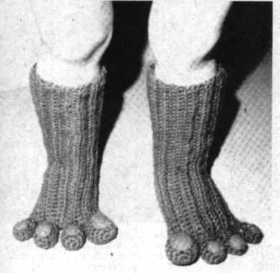 Free Crochet Pattern For Monster Slippers : Monster Feet Slipper Socks Free Crochet & Knitting ...