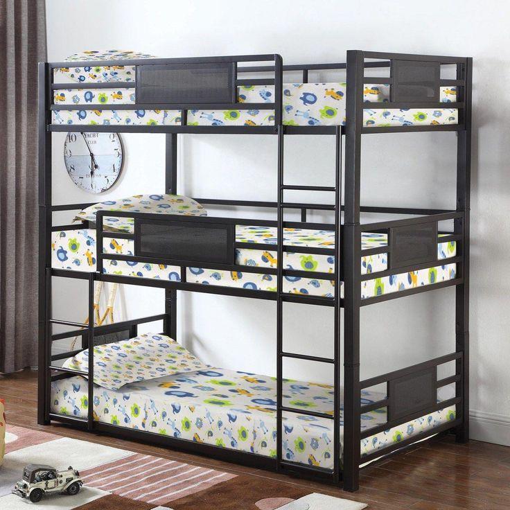 Glorious photo bunkbedstwinoverfull Triple bunk beds