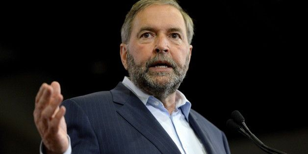 "Thomas Mulcair scored big applause from NDP supporters Thursday after he told a group of environmental activists heckling him to ""show a little bit of respect"" at his Winnipeg rally. The protesters repeatedly chanted ""stop Energy East"" as Mulcair spoke to about 1,000 supporters. The proposed TransCanada pipeline would carry 1.1 million barrels of oil a day from Alberta and Saskatchewan to refineries in New Brunswick."