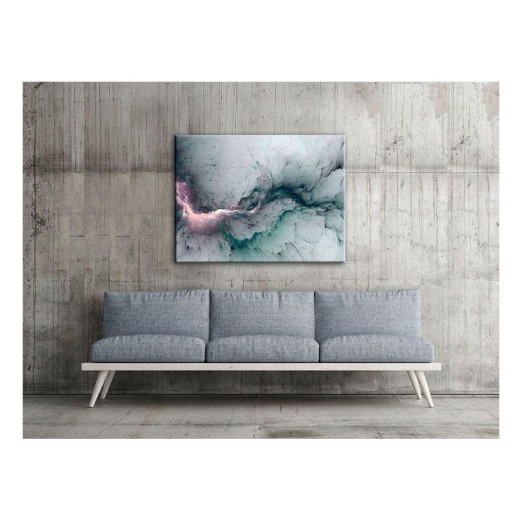 Capturing the look of frosty water bursting through concrete, this electric contemporary print is a mutable piece able to work with a range of other colours and compositions to bring a space together.