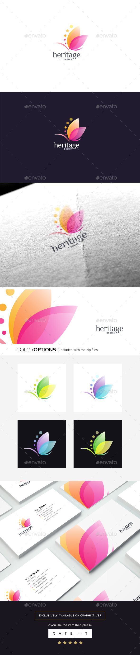 Heritage beauty — Vector EPS #spa #natural • Download ➝ https://graphicriver.net/item/heritage-beauty/19239286?ref=pxcr