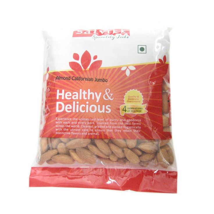 Satvikk Almond Californian Jumbo 400G   Buy Dry Fruits Online India -Foodzu.in