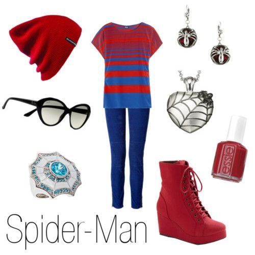 Spider-Man inspired outfit; character inspired fashion