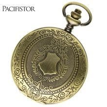 PACIFISTOR Pocket Watch Mens Antique Steampunk Stainless Steel Mechanical Pocket Watch Vintage Roman Gift Pendant