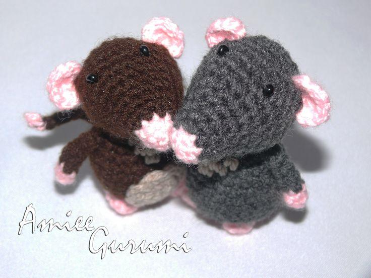 Egér tesók / Crochet Rat