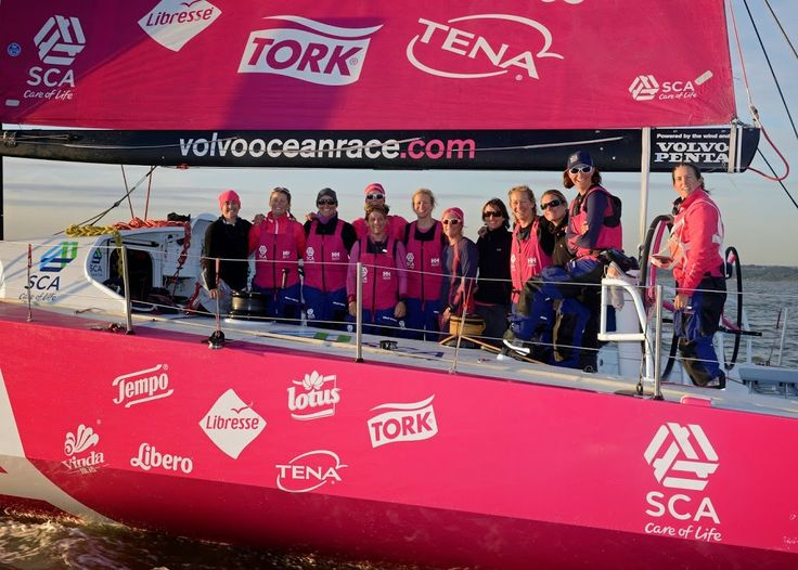 Sevenstar Round Britain and Ireland Race 2014 Team SCA finishes at dawn off Cowes to beat the all female round Britain record. Volvo Ocean 65 SCA, skippered by Sam Davies, crossed the finish line of the 2014 Sevenstar Round Britain and Ireland Race off the Royal Yacht Squadron, Cowes at 06.10.39 BST on Saturday 16th August 2014 with an elapsed time of 4 days, 21 hours, 00 minutes and 39 seconds.  This breaks the previous World Record for Women's Monohull set by Aviva, an Open 60, in 2009, by…