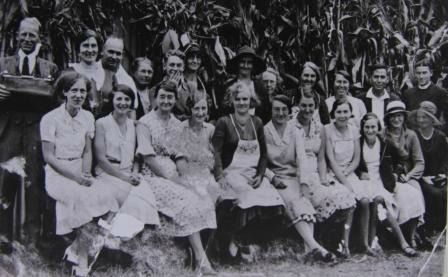Starting today I am planning to upload an image a day to celebrate the release of The Australian Blue Ribbon Cookbook on March 26. This wonderful photo of catering volunteers at the 1934 Cobargo Show, supplied by Ray Sawtell, appears on the title page along with a dedication to all the volunteers that help keep the tradition of country shows alive.