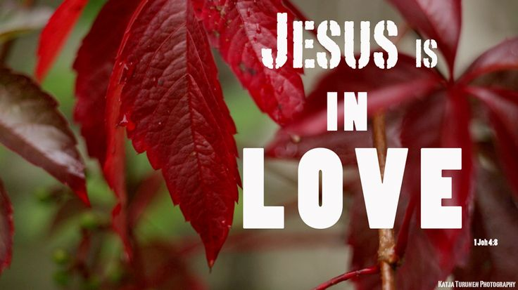 "Jesus in in love. 1 John 4:8 ""God is love""  Katja Turunen Photography"
