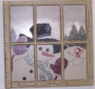 Snowman window....