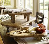 Wood pedestals are a great way to add height to a tablescape and are beautiful for serving cheese and charcuterie.