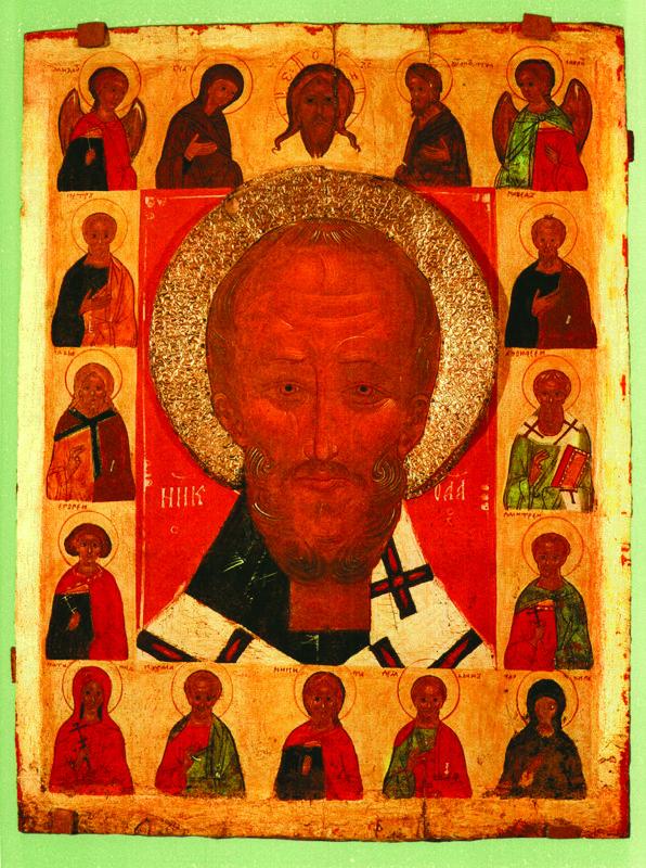 XVI в. Никола Оплечный, Деисус и избранные святые