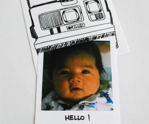 polaroid birth announcements.