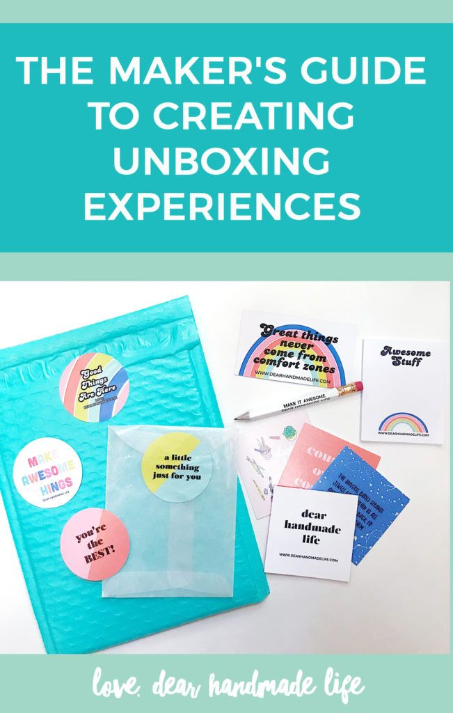 5 Things To Know To Create An Unforgettable Unboxing Experience Dear Handmade Life Unboxing Experience Unboxing Thank You Card Design