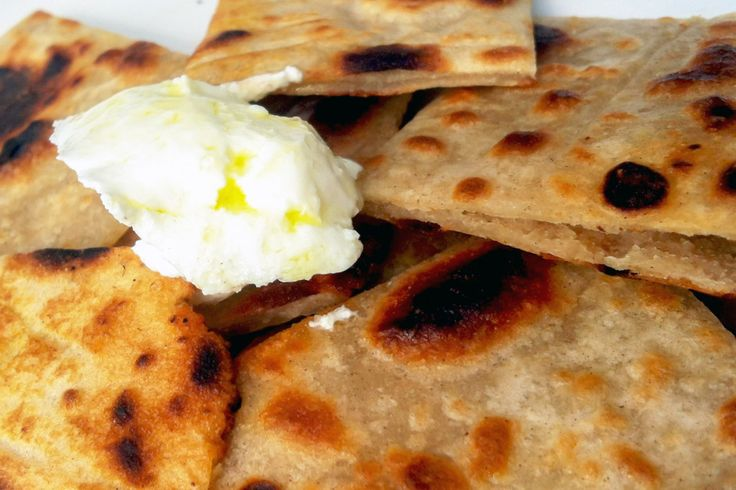 Yoghurt Flatbread - Perfect as a snack when there is no bread in the house, or great as a pizza base.