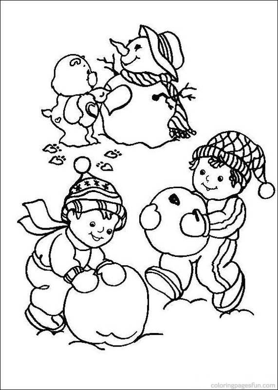 64 best Care Bears images on Pinterest Care bears, Coloring books - new snow coloring pages preschool