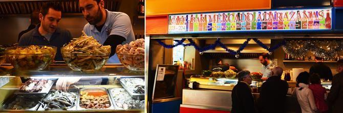 Cafe-bar Mercado Atarazanas, Malaga - Andalousie (Espagne)