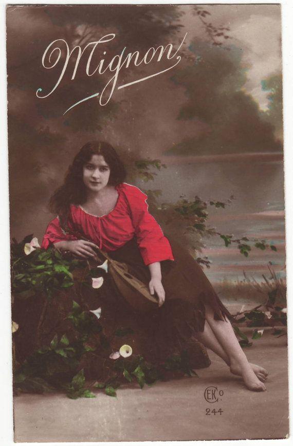 Postcard Antique german