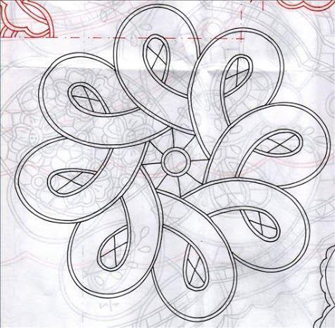 Tape lace crochet pattern