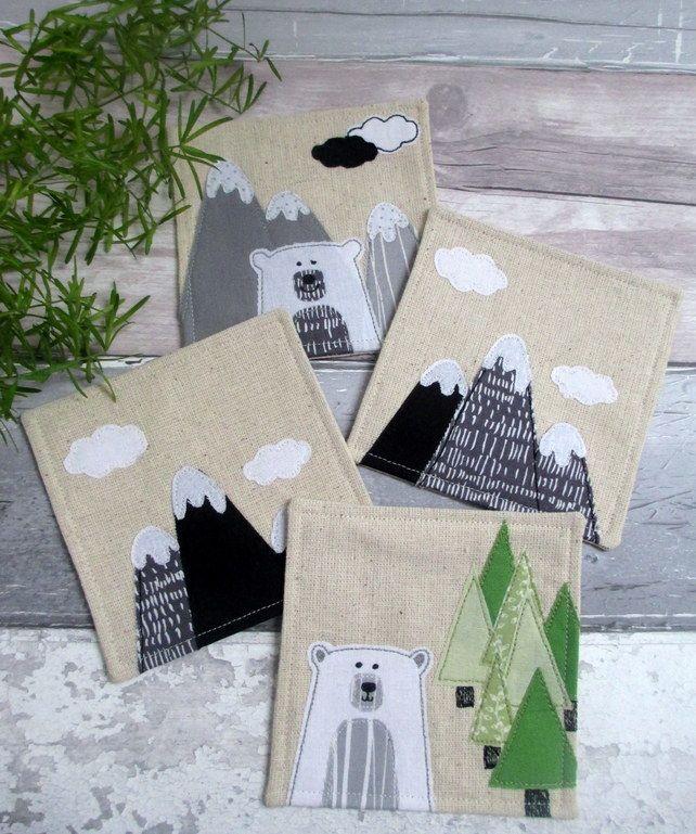 Handmade Decorative Coasters - Nature Lovers Gift - Fabric Coasters £22.00