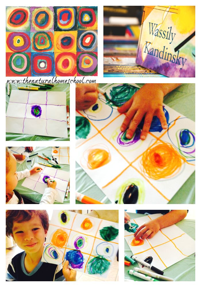 3 Art Lessons for Preschoolers: Picasso, Kandinsky, Mondrian                                                                                                                                                                                 More