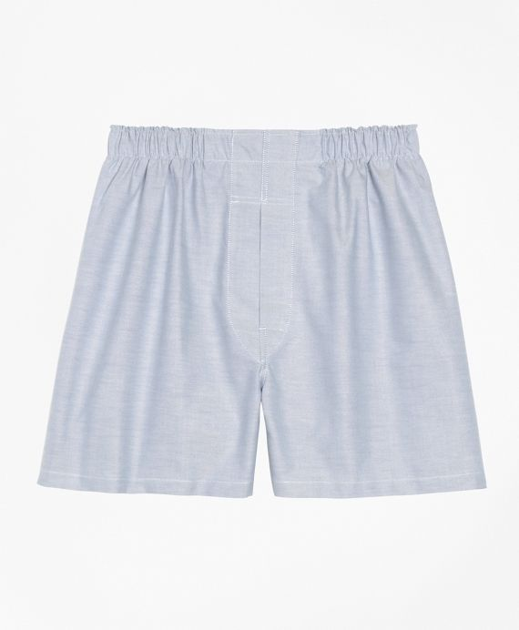 Traditional Fit Oxford BoxersBlue Brooks Brothers $18.75