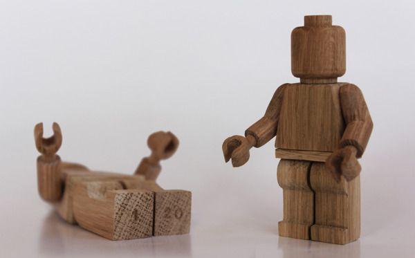 Wooden Lego Art Toys  ²° by Malet Thibaut, via Behance