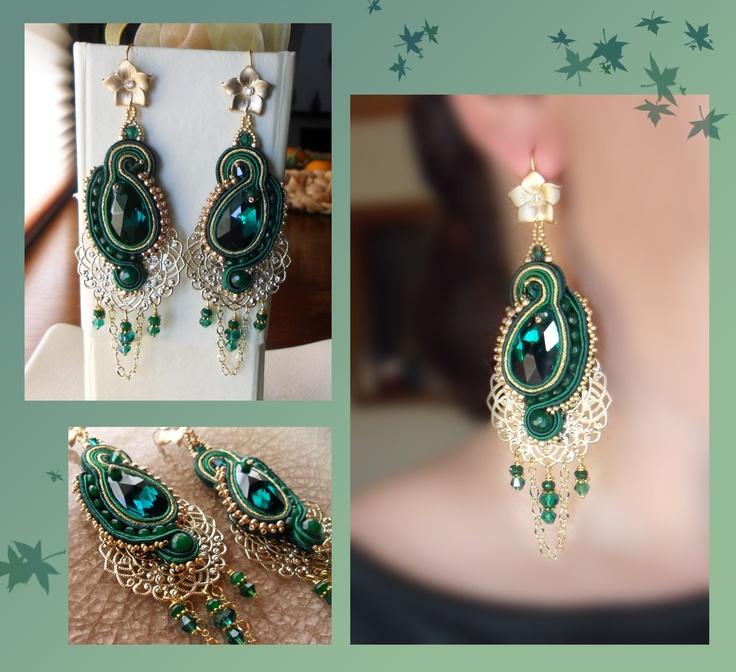 Soutache Earrings - Serenidea Creations