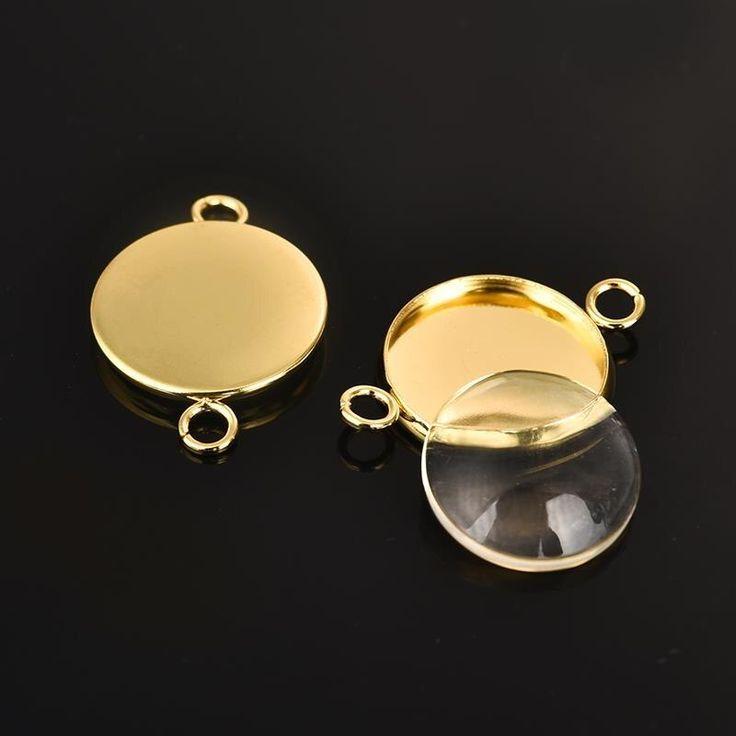 20pc 12mm Antique Brass Bronze Lobster Clasps Connectors Clip Findings Bracelet