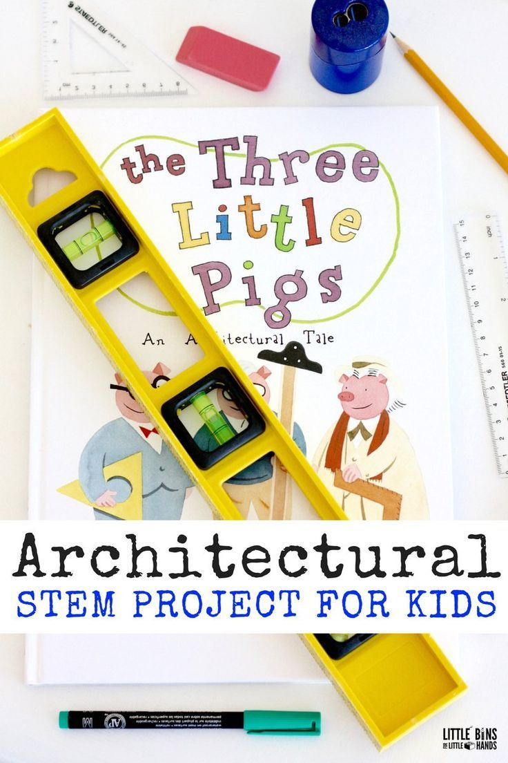 Architectural STEM Project for Kids with The Three Little Pigs Check out all the 28 Days of STEAM Projects for Kids for fun science, technology, engineering, art, and math activities!