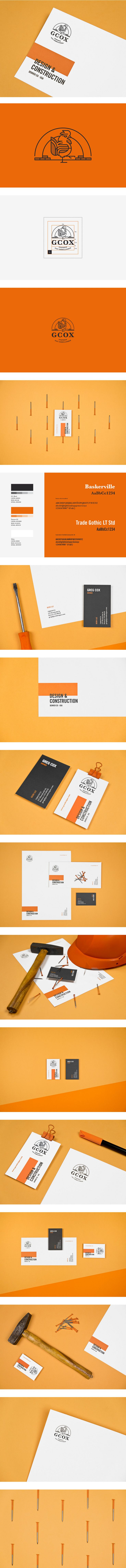 GCOX LLC Identity by Mubien Studio | More inspiration: http://ibrandstudio.com/inspiration/construction-company-identity-designs