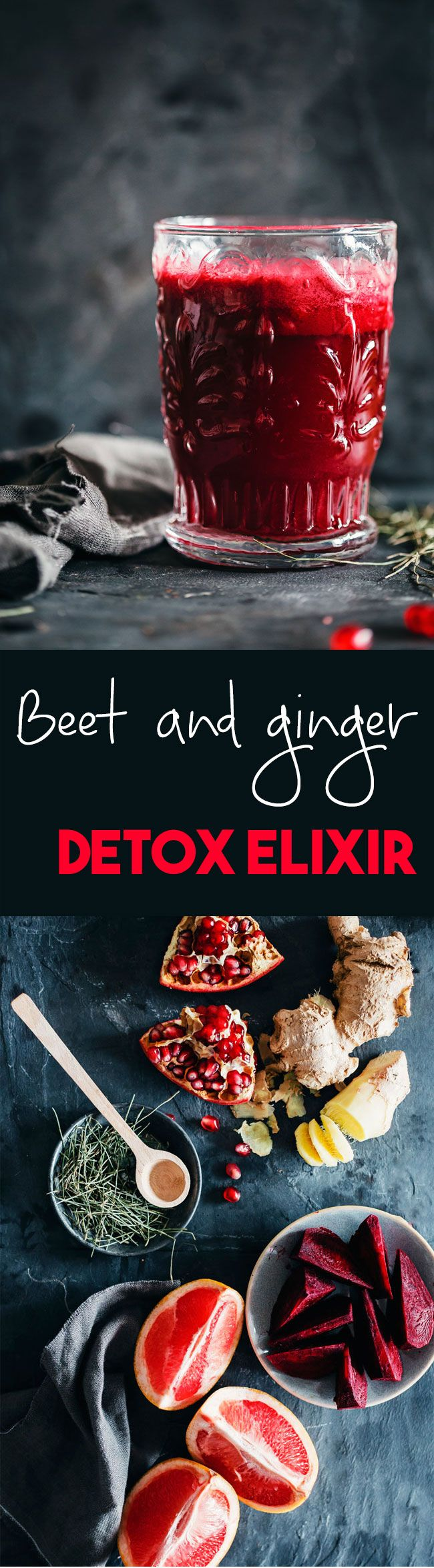 Beet, ginger and herbal tea, a purifying elixir #detox | TheAwesomeGreen.com