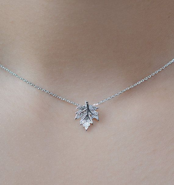 Ahornblatt-Halskette Kanada. Sterling Silberkette….
