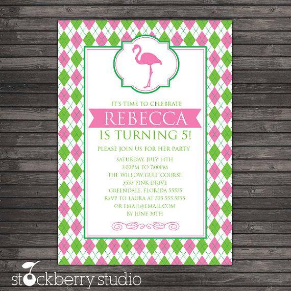 Pink Flamingo Birthday Invitation Printable Pink And