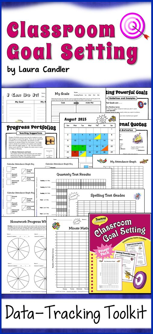 Classroom Goal Setting from Laura Candler - Your data-tracking toolkit! Teach your students why they need goals, how to write them, and how to track their data. Perfect for 3rd, 4th, 5th, and 6th grade! $