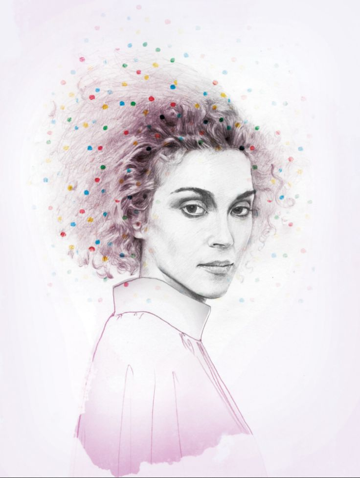 St. Vincent illustrated by Sara Hingle for Frankie Magazine