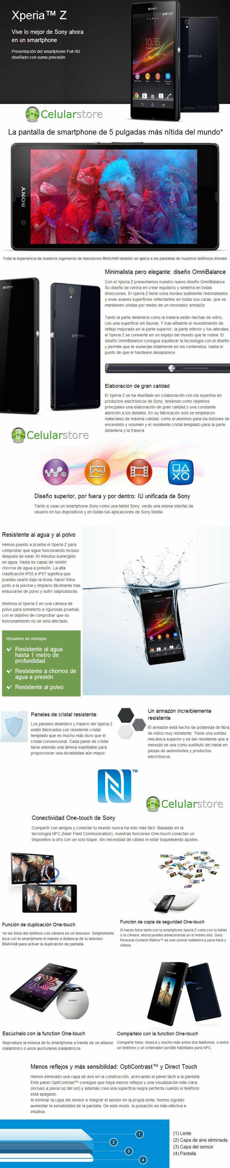 Comprar Sony Xperia Z Blanco resistente al agua y polvo en argentina