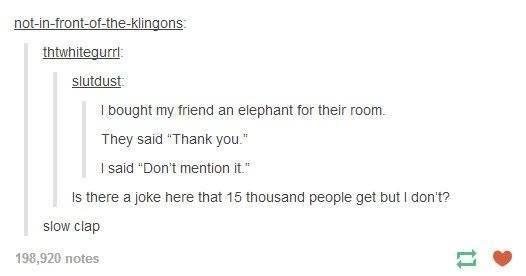 i bought my friend an elephant...