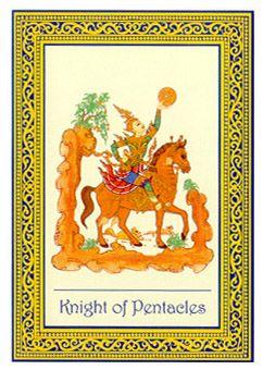 Knight of Pentacles - Royal Thai Tarot by Sungkom Horharin, Wasan Kriengkomol, Verasak Sodsri