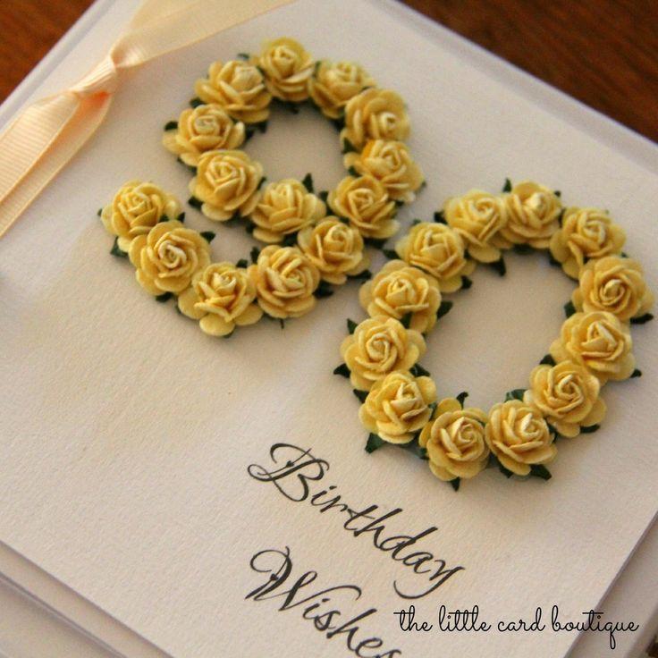 handmade 90th birthday card
