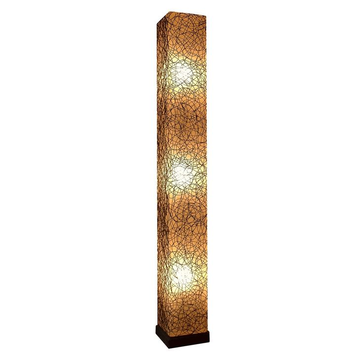 Crafted Home Decorative Concordia Geometric Transitional Floor Lamp