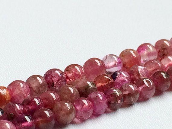 Pink Tourmaline Beads Pink Tourmaline Plain by gemsforjewels