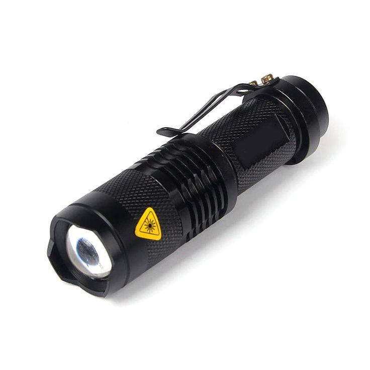 3 Modes Q5 Led Flashlight Torch 7W Mini Black 1200Lm By 14500 Battery Zoomable Torch Light LED Torch Lighting #Affiliate