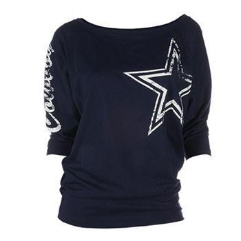 Dallas Cowboys Dolman Tee - Women