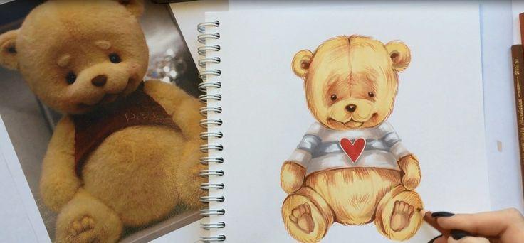#кукла #косметика #макияж #бжд #скетч #скетчбук #рисунок #медведь #иллюстрация #рисунокдевушка