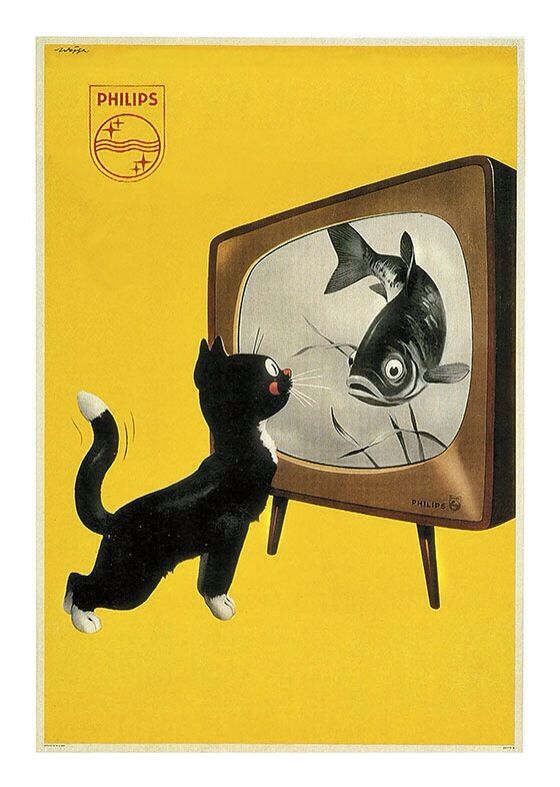 Cat Vintage Poster, available at 45x32cm. This poster is printed on matt coated 350 gram paper.