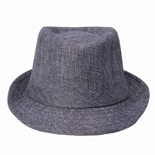 Wide Brim Panama Fedora Hats for Women Men Jazz Caps Unisex Top Beach Visor Hat Straw Cap Brief Style Free Shipping DWT