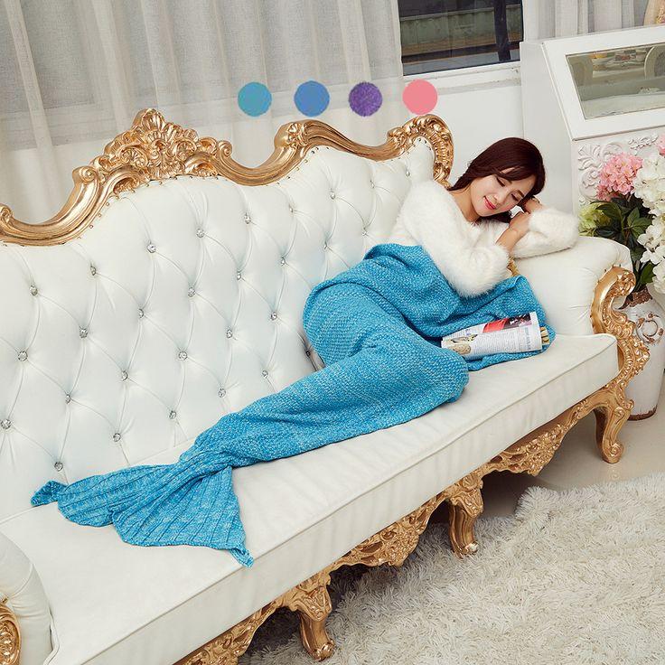 Creative  Mermaid Tail Blanket Adult /child/baby Mermaid Blanket Knit Cashmere TV Sofa Blanket